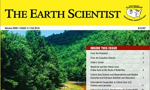 Cover for a special issue of The Earth Scientist journal, published by National Earth Science Teachers Association (NESTA). The issue was sponsored by the Critical Zone Observatory Network.